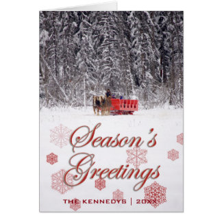 Season's Greetings - Sleigh rides at Stables Card
