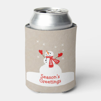 Season's Greetings Snowman Can Cooler