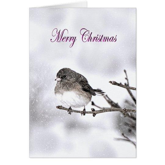 Season's Greetings  - Snowy Scene - Sparrow Card