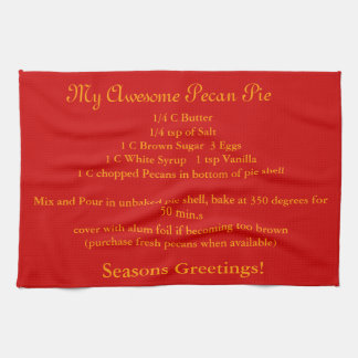 Seasons Greetings Towel with recipe