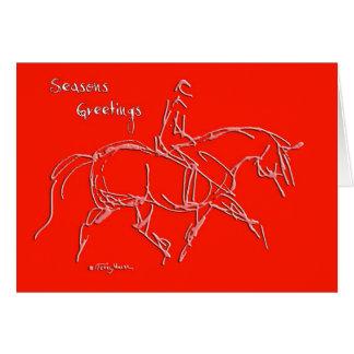 Seasons Greetings Trotting Red Card