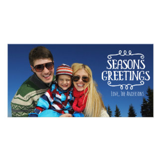 Season's Greetings Winter Holiday Photocard Card