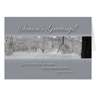 Season's Greetings, Winter Landscape with Quote Card
