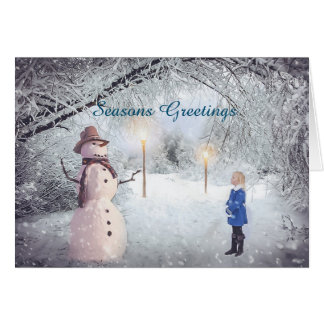 Seasons Greetings Winter Wonderland Holiday Card