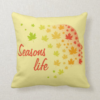 Seasons Life Throw Pillow