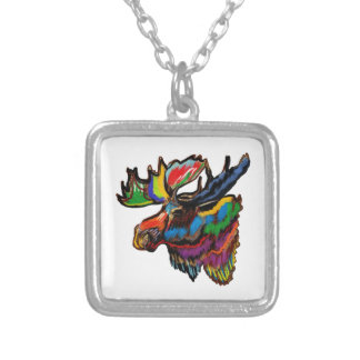 SEASONS OF COLORS SILVER PLATED NECKLACE