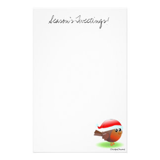 Season's tweetings cute Christmas Robin stationery