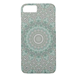 Seasons: Winter Light Teal and Grey Mandala iPhone 8/7 Case
