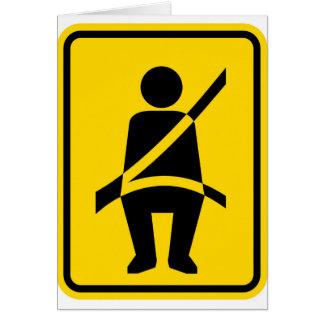 Seat belt Reminder Icon Card
