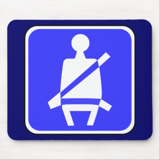 Seat Belt Sign Mouse Pad