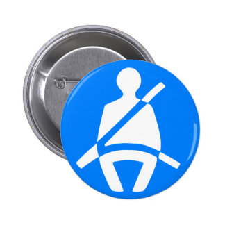 Seat Belt Symbol 2 Inch Round Button