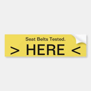 Seat Belt Bumper Stickers Amp Car Stickers Zazzle Ca