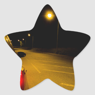 Seat Ibiza on the lonely road Star Sticker