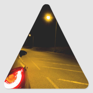 Seat Ibiza on the lonely road Triangle Sticker