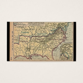 Seat of Civil War, 1861- 1865 Map Business Card