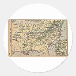 Seat of Civil War, 1861- 1865 Round Sticker