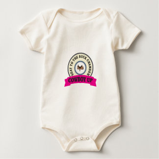 seat to the buck chamber baby bodysuit