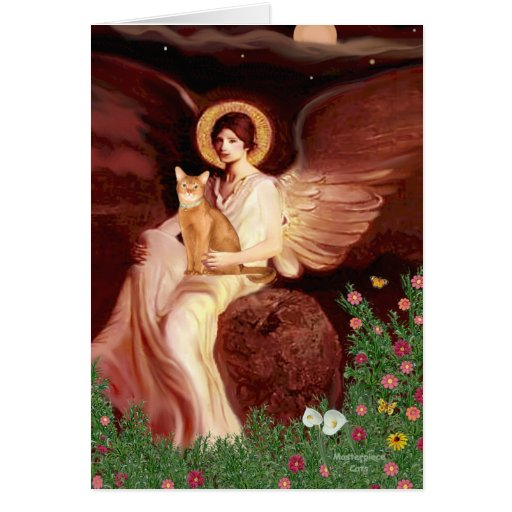 Seated Angel - Red Abyssinian Greeting Cards