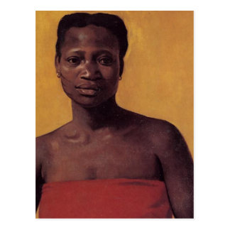 Seated Black Woman Postcard