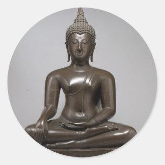 Seated Buddha - 15th century Classic Round Sticker
