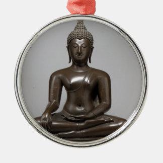 Seated Buddha - 15th century Metal Ornament