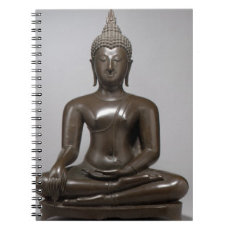 Seated Buddha - 15th century Spiral Notebook