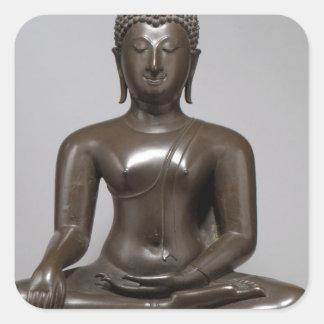 Seated Buddha - 15th century Square Sticker