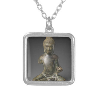 Seated Buddha - Pyu period Silver Plated Necklace