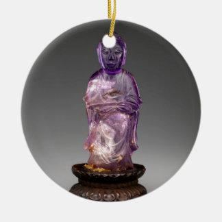 Seated Buddha - Qing dynasty (1644–1911) Ceramic Ornament
