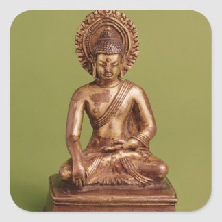 Seated Buddha Square Sticker