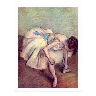 Seated Dancer by Edgar Degas Postcard