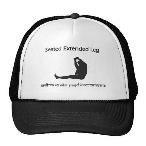 Seated Extended Leg Trucker Hat