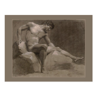 Seated Man by Isabey Postcard
