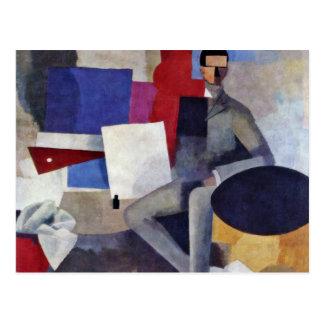 Seated Man By La Fresnaye Roger-Noã«L-François De Postcard