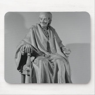 Seated sculpture of Voltaire Mouse Pad