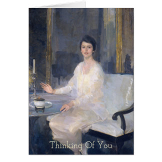 Seated Woman Ernesta Thinking Of You Card