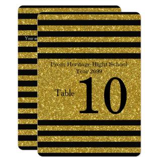 Seating Card, Place card, list behind,Strip black Card