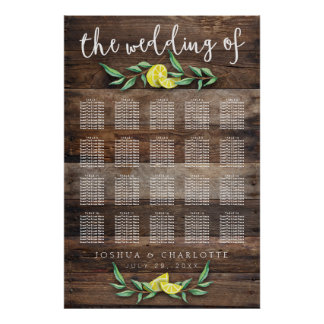 SEATING CHART 151-200 | Rustic Wood Lemon Wedding