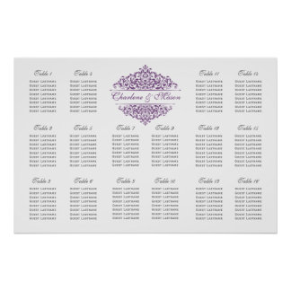 Seating Chart Poster-PICK YOUR OWN COLOR Charlene