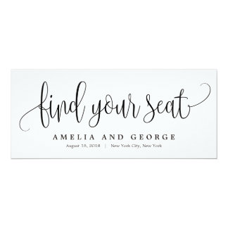 Seating Plan Title Card - Lovely Calligraphy