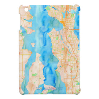 Seattle and Puget Sound Watercolor Map iPad Mini Cover
