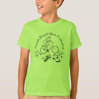Seattle Bicycle Music Festival Kids T-shirt