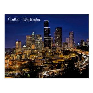 Seattle City in Washington Postcard