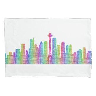 Seattle city skyline pillowcase