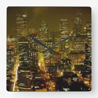 Seattle city view clock