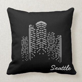 Seattle Cityscape Pillow