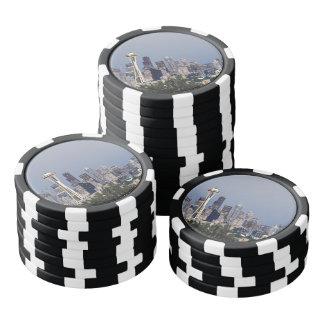 Seattle cityscape poker chips