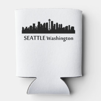 Seattle Cityscape Skyline Can Cooler