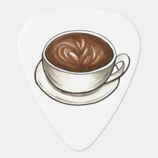 Seattle Coffee Cup Latte Print Foodie Guitar Pick