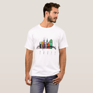 seattle colorful skyline t-shirt